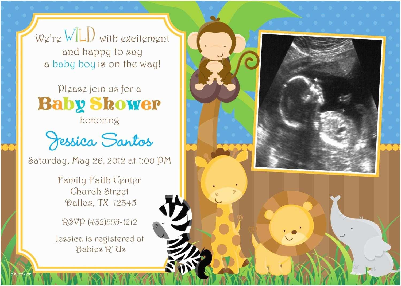 Animal Baby Shower Invitations Safari Animals Baby Shower Invitations