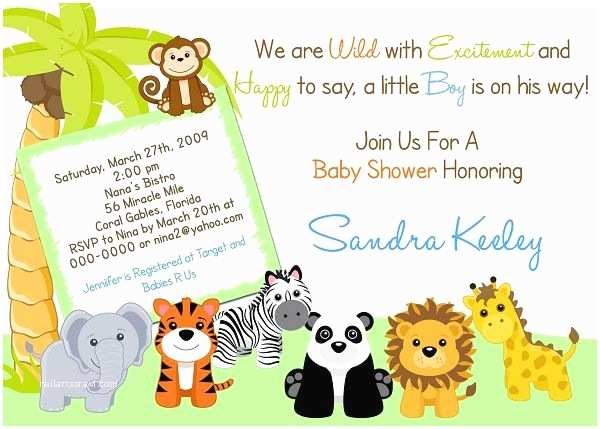 Animal Baby Shower Invitations Safari Baby Shower Invitations Free