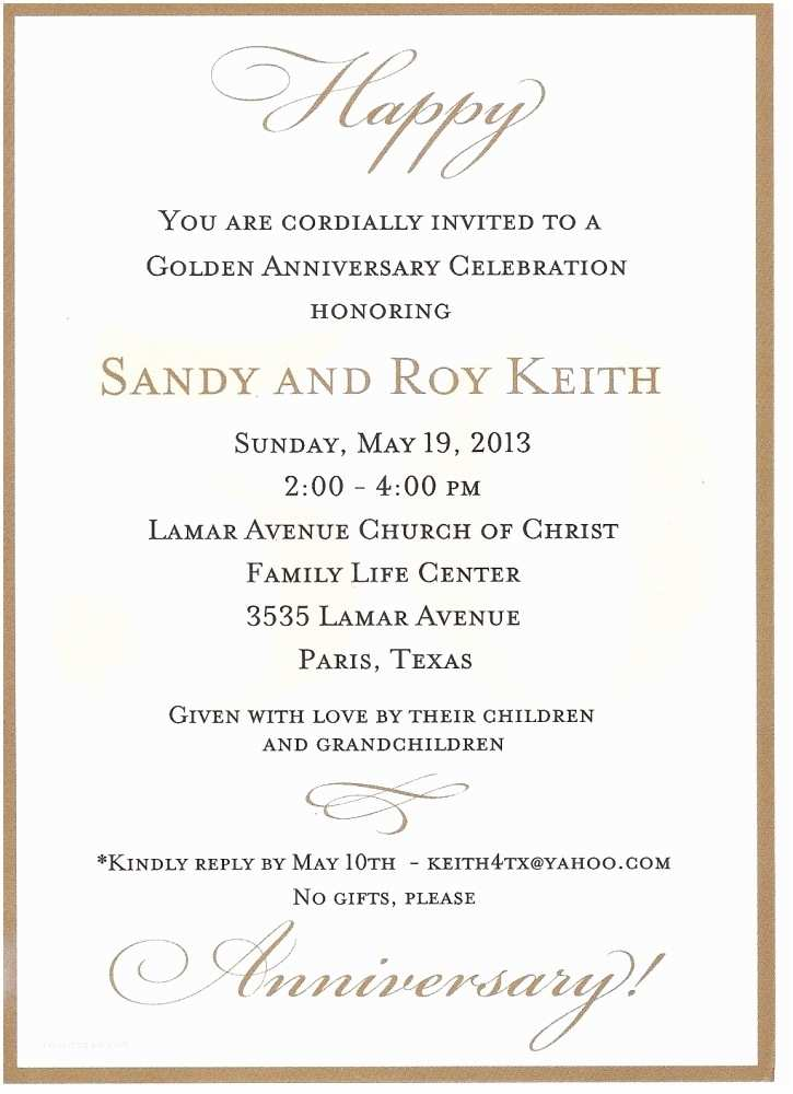 Anniversary Party Invitations 50th Anniversary Party Invitations Template