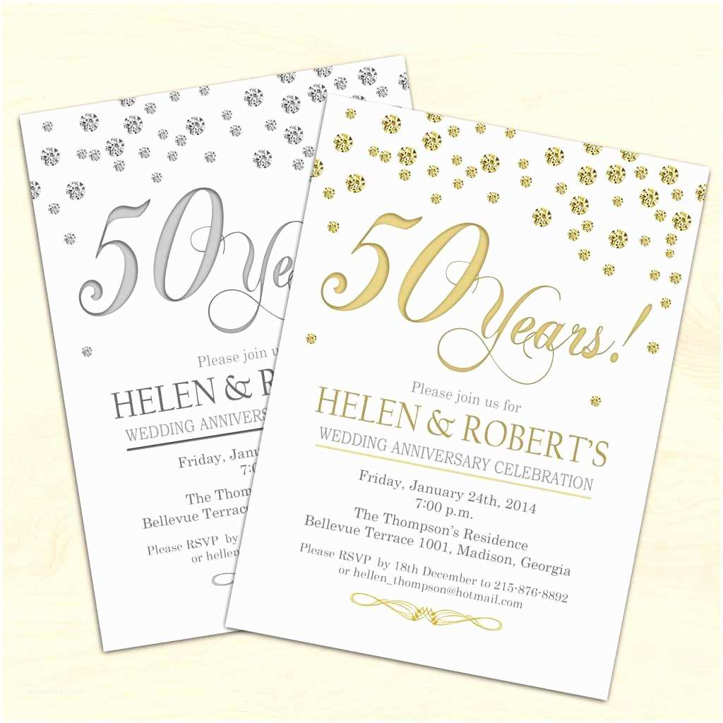 Anniversary Party Invitations 50th Wedding Anniversary Invitations