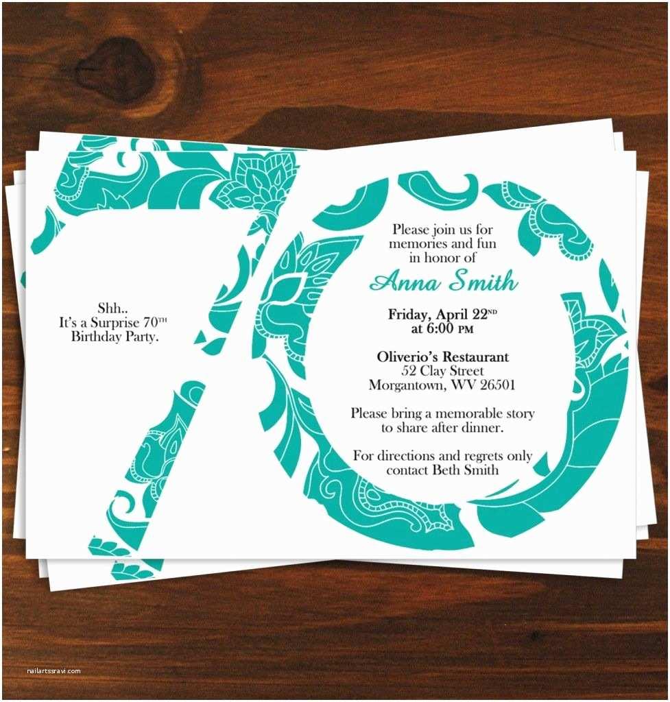 Anniversary Party Invitations 70th Birthday Invitation