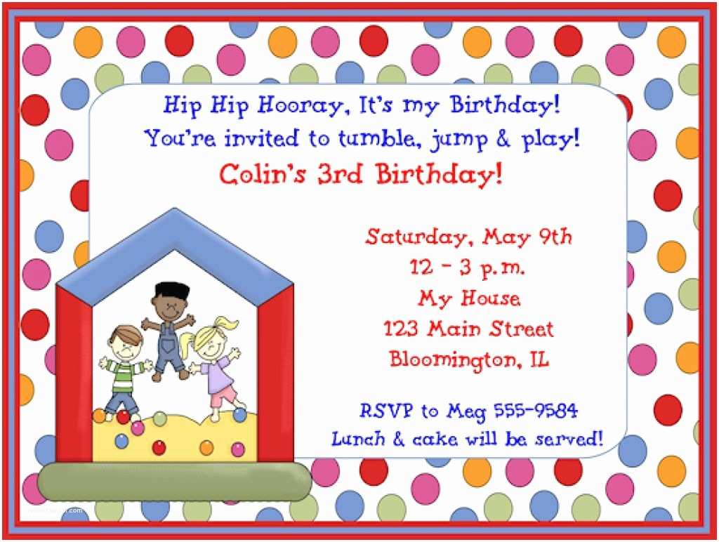 Anniversary Party Invitations Childrens  Party Invites Children S