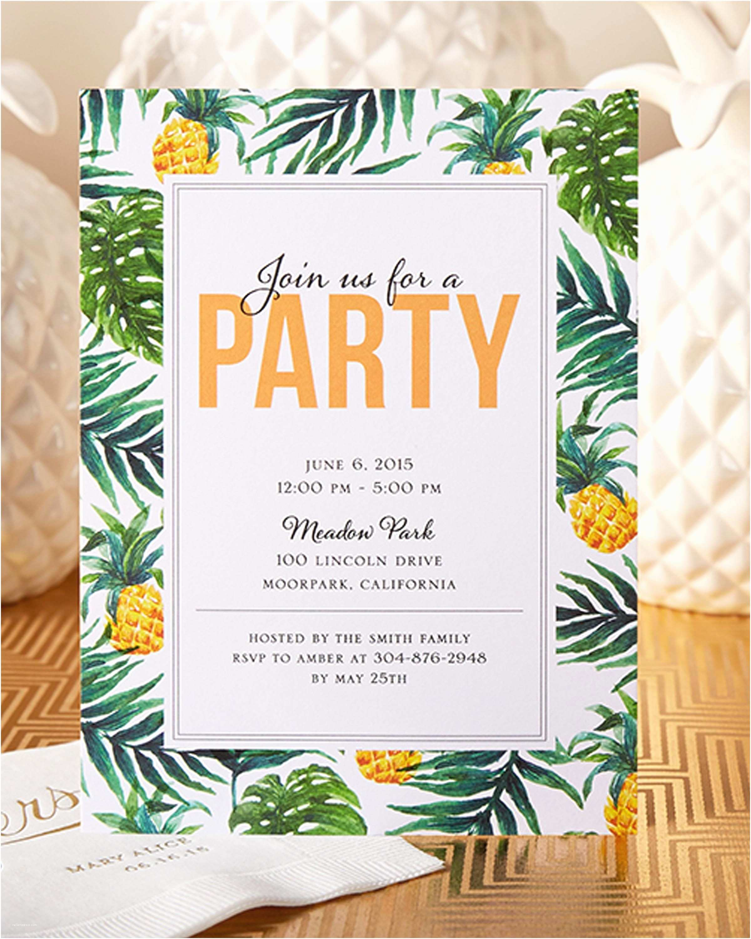 Anniversary Party Invitations Have Your Friends Join You For A Tropical Party