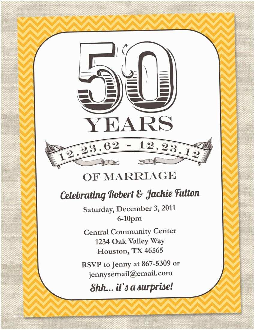 Anniversary Party Invitations Templates for 50th Birthday Invitations Free Printable