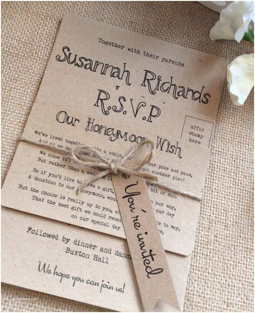 Antique Wedding Invitations 1 Rustic Vintage Shabby Chic Kraft Bundle Wedding
