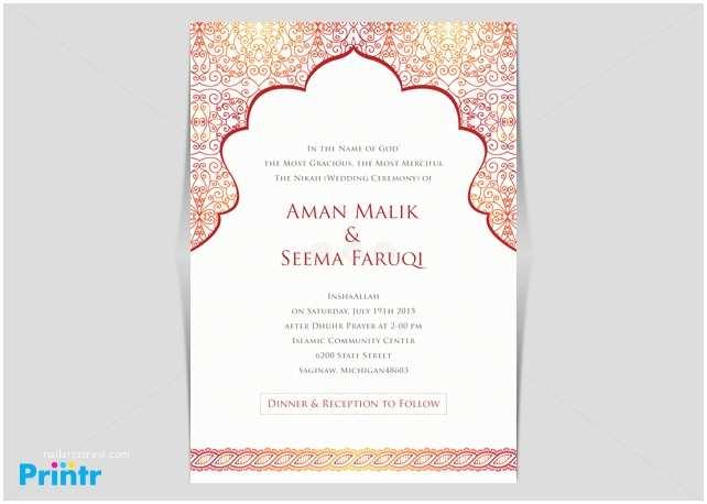 Arabic Wedding Invitations Invitation Card Arabic Image Collections Invitation