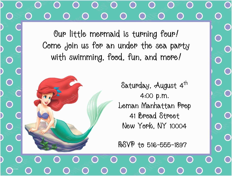 Ariel Birthday Invitations 10 Little Mermaid Birthday Invitations with Envelopes Free