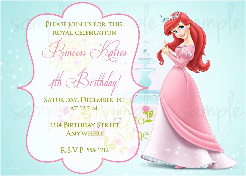Ariel Birthday Invitations Princess Ariel Birthday Invitation by Lovelifeinvites On Etsy