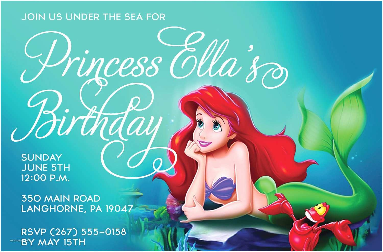 Ariel Birthday Invitations top 14 Little Mermaid Birthday Party Invitations