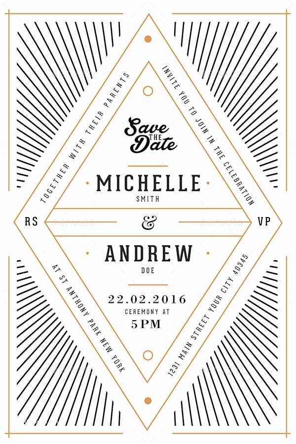 Art Deco Wedding Invitations Art Deco Wedding Invitation Card by Guuver