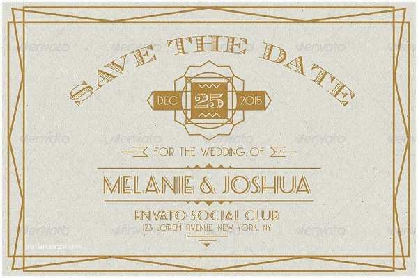 Art Deco Wedding Invitations Free Download 29 Art Deco Wedding Invitations Free & Premium Download