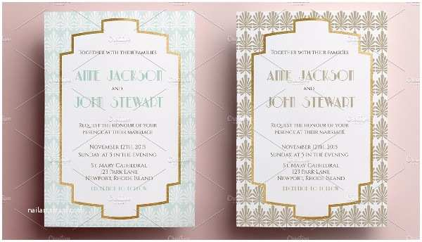 Art Deco Wedding Invitations Free Download 29 Art Deco Wedding Invitations Free & Premium Download