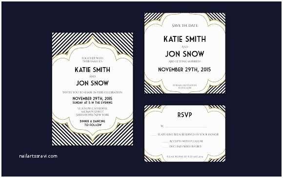 Art Deco Wedding Invitations Free Download Art Deco Inspired Wedding Invitation Invitation