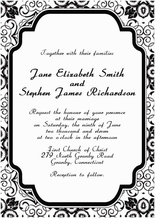 Art Deco Wedding Invitations Free Download Free Printable Wedding Invitation Templates