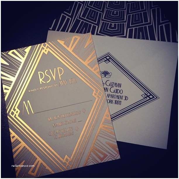 Art Deco Wedding Invitations the Gatsby Effect A Look at Art Deco Wedding Invitations