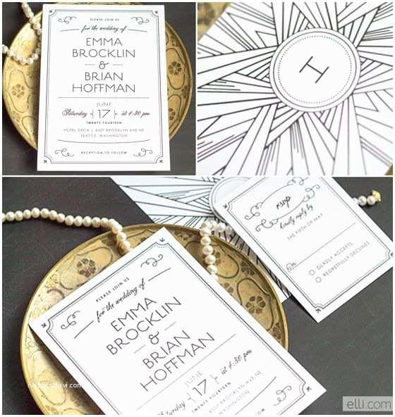 Art Deco Wedding Invitations Wedding Deco and Google On Pinterest
