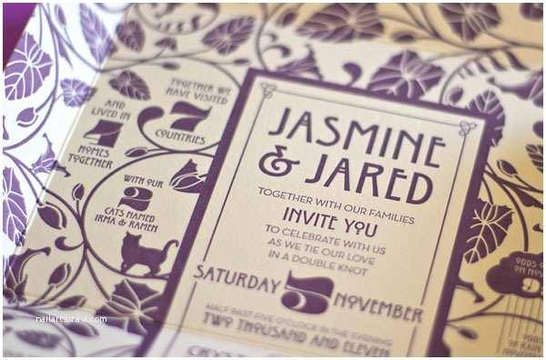 Art Nouveau Wedding Invitations Self Mailing Art Nouveau Wedding Invitations Invitation