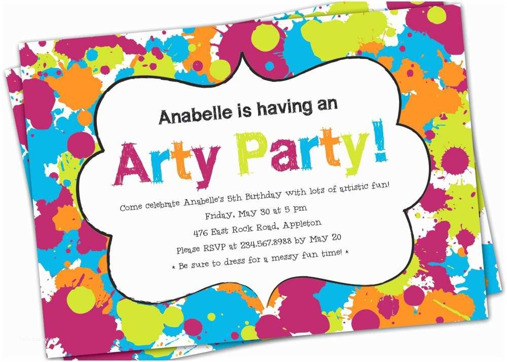 Art Party Invitations Les Enfants Stylish Children S Parties Blog Party