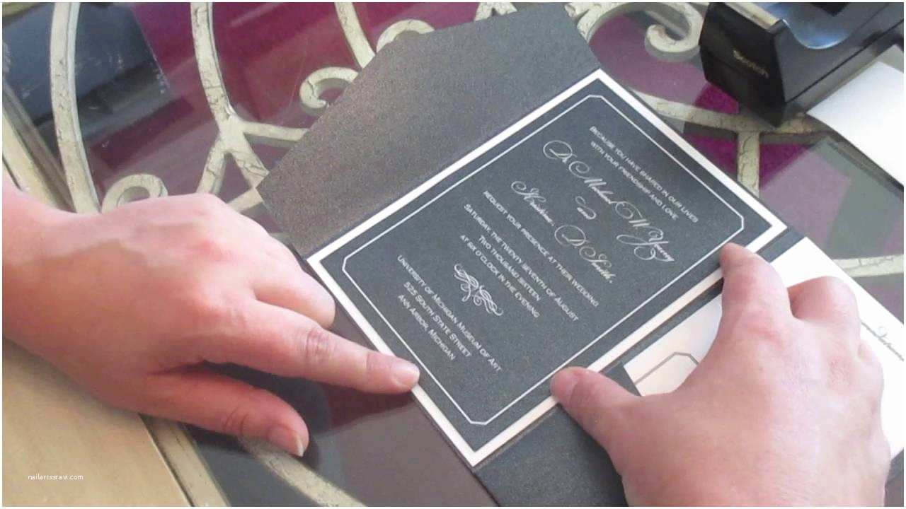 Assembling Wedding Invitations assembling A Layered Pocket Wedding Invitation with A