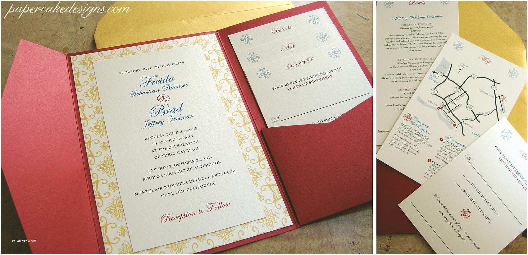 Assembling Wedding Invitations [diy Print & assemble] Wedding Invitations