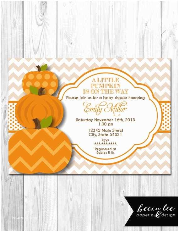 Autumn Baby Shower Invitations Little Pumpkin Baby Shower Invitation Diy Printable by