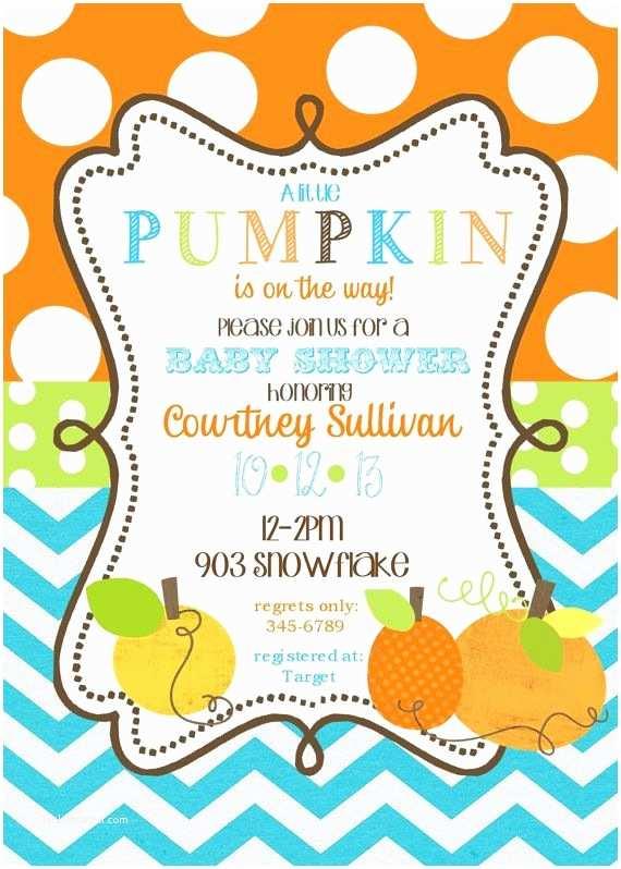 Autumn Baby Shower Invitations Pumpkin Baby Shower Invitations Printable or Digital File