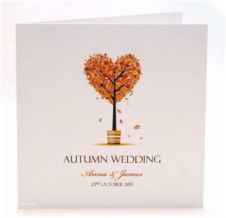 Autumn Wedding Invitations Autumn Wedding Invitation True Love