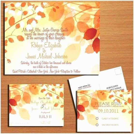 Autumn Wedding Invitations Pinterest