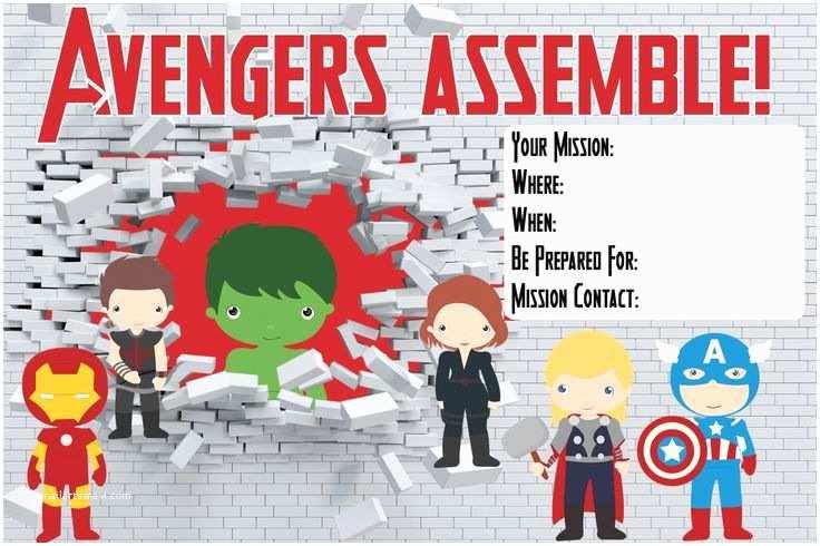Avengers Birthday Invitations Invitation