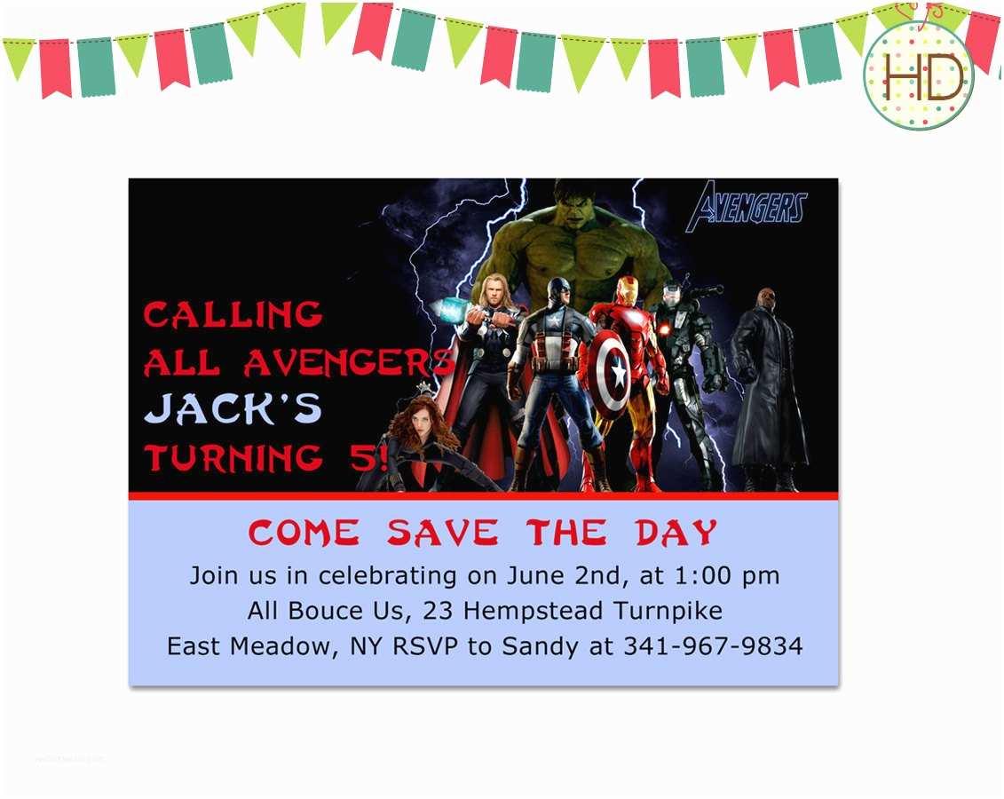 avengers birthday invitation avengers