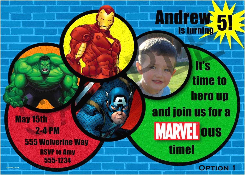 Avengers Birthday Invitations Marvel Avengers Birthday Party Invitation Digital File