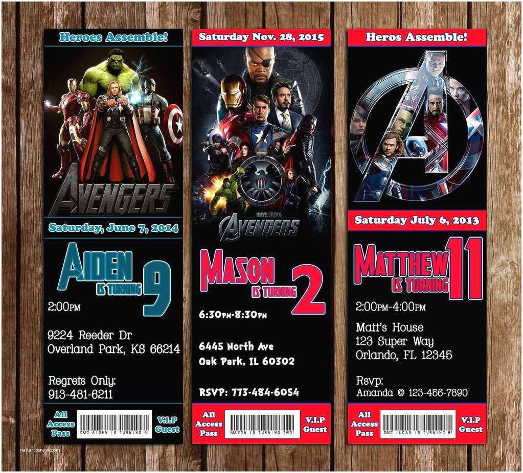 Avengers Birthday Invitations Novel Concept Designs Marvel the Avengers Movie Birthday