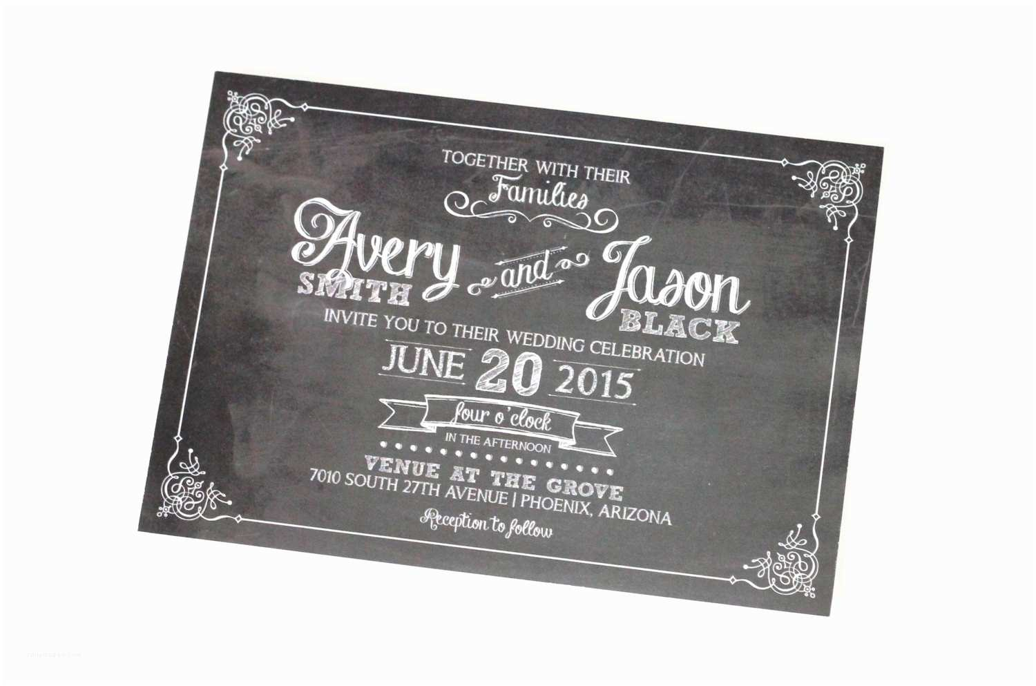 Avery Labels for Wedding Invitations Avery Chalkboard Wedding Invitation Sample Set Black and