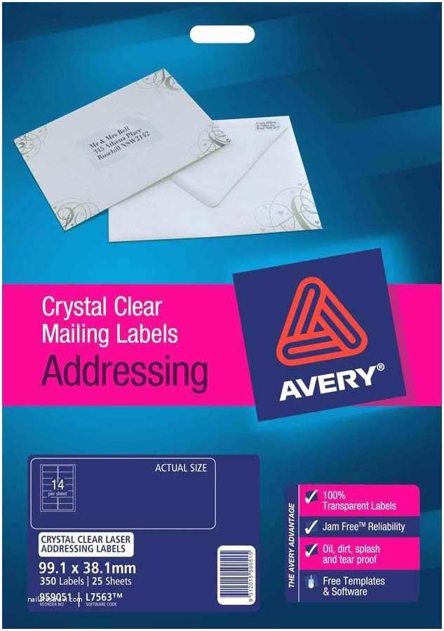 Avery Labels for Wedding Invitations Avery Crystal Clear Address Labels L7563 25 Avery
