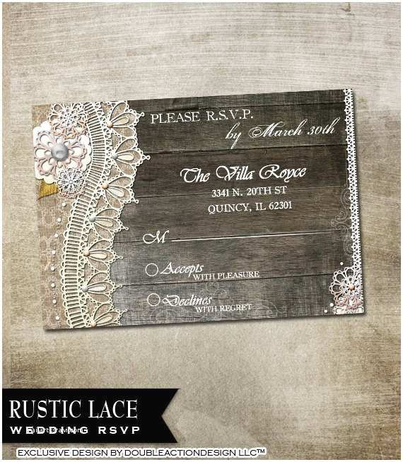 Avery Labels for Wedding Invitations Rustic Lace Wedding Invitation Rsvp Envelope and Avery Label
