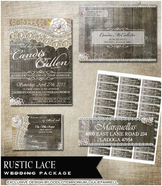 Avery Labels for Wedding Invitations Rustic Lace Wedding Invitation Rsvp Envelope and Avery