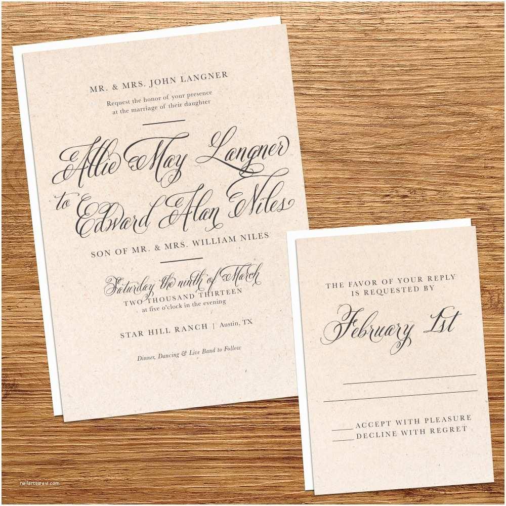 B Wedding Invitations Elegant Paper Wedding Invitations Invitation Pap With