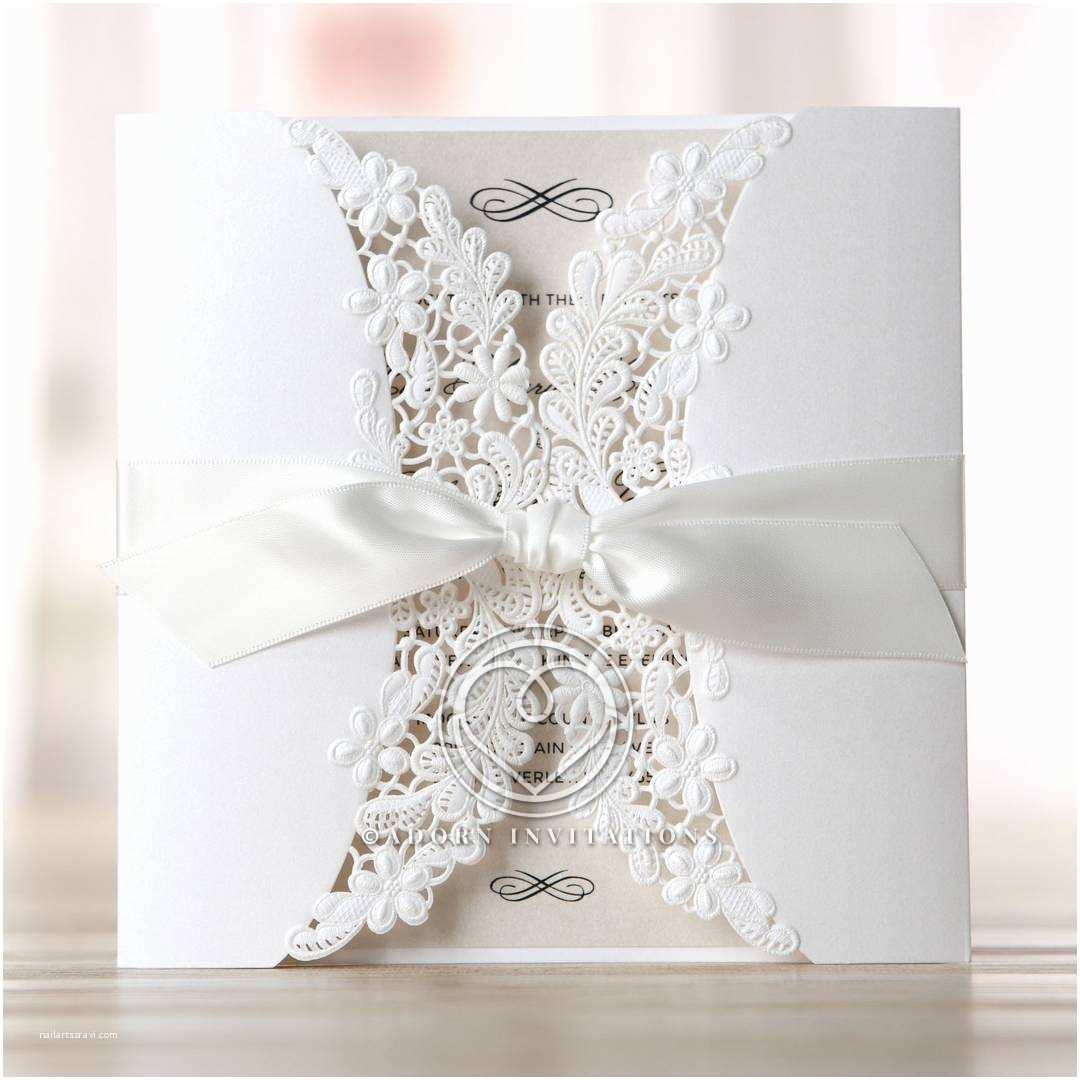B Wedding Invitations Embossed and Laser Cut Gate Fold Wedding Invitation Floral