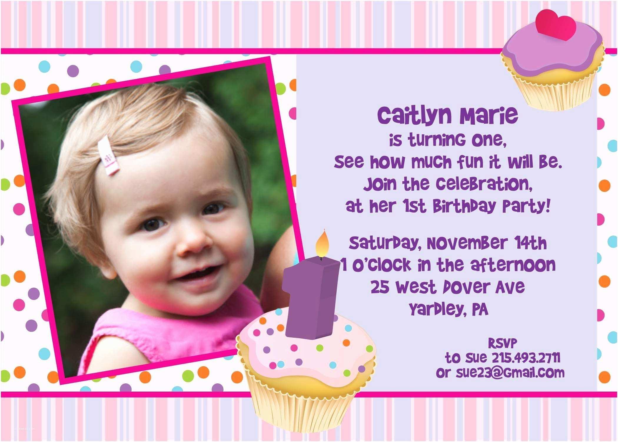 Baby Birthday Invitations 1st Invitation Cards Templates Free