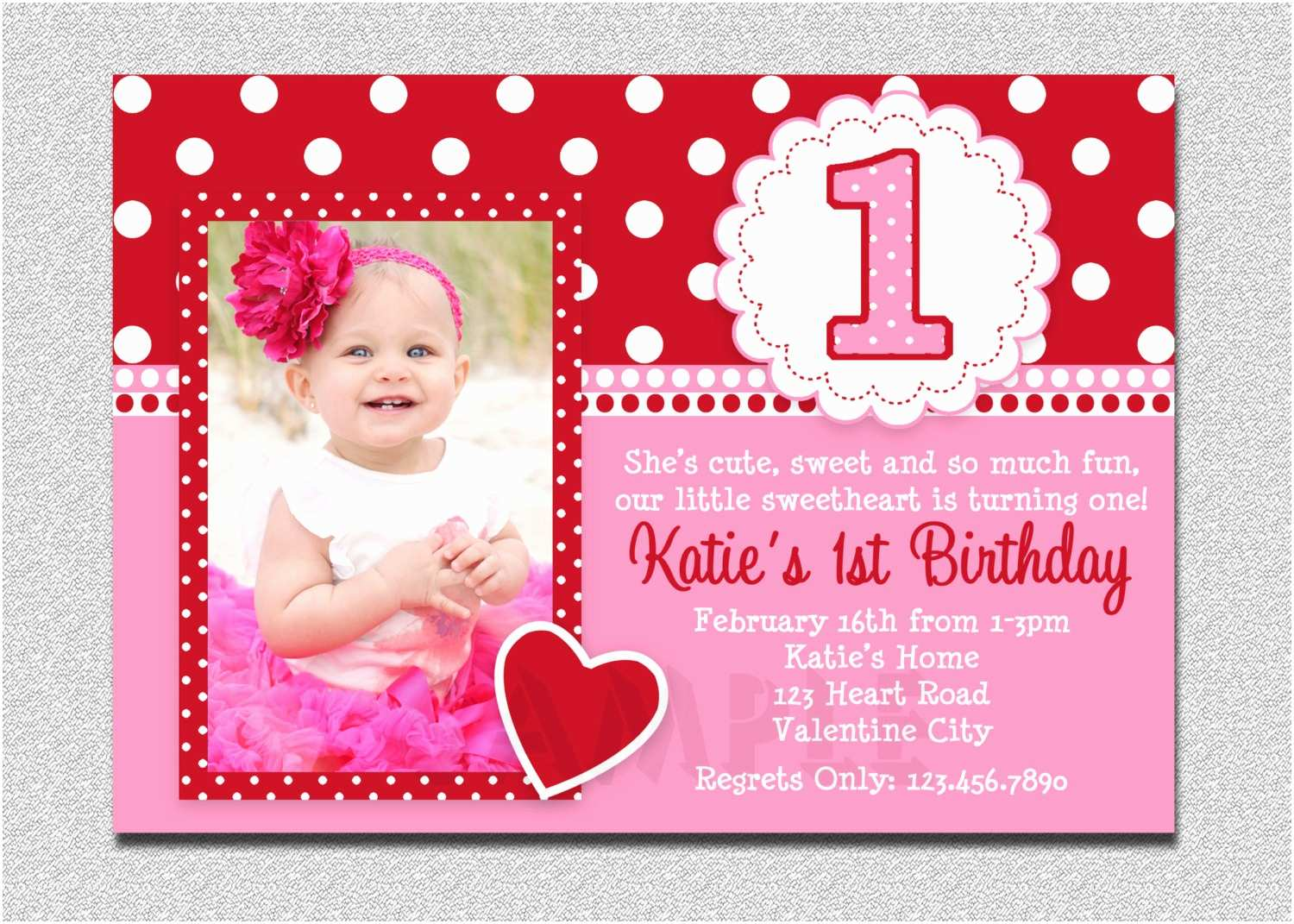 Baby Birthday Invitations Card Invitation Ideas Free Girl First