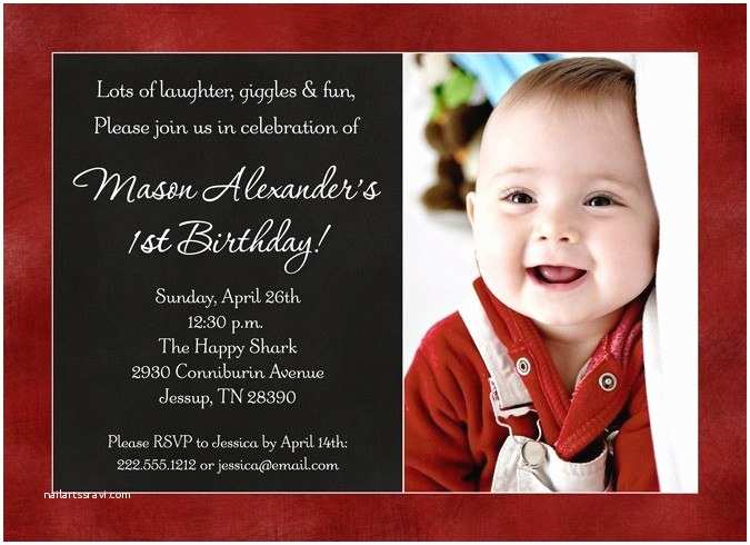 Baby Birthday Invitations Color Baby S Birthday Invitation Favorite Design