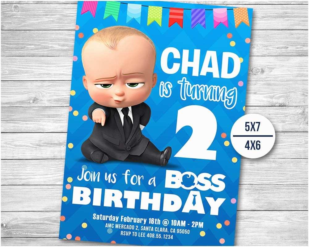 Baby Birthday Invitations The Boss Invitation Party