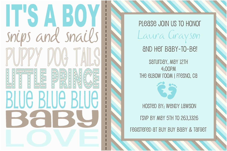 Baby Boy Shower Invitation Wording Items Similar To Baby Boy Wording Shower Invitation On