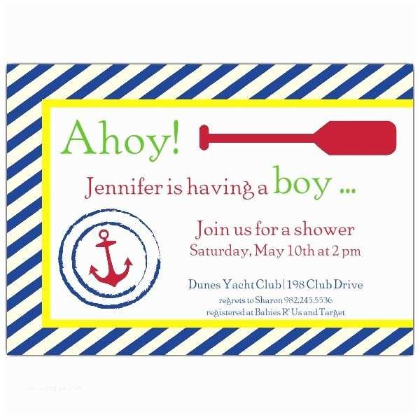 Baby Boy Shower Invitation Wording Nautical Baby Shower Invitations