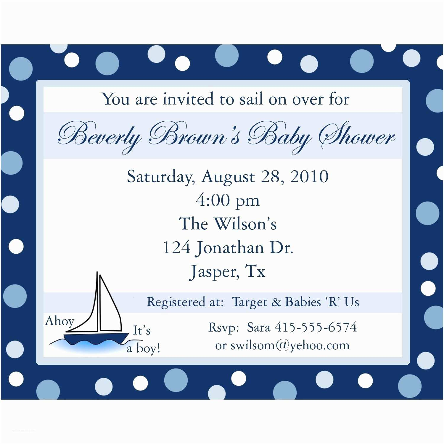 Baby Boy Shower Invitations 20 Personalized Baby Shower Invitations Ahoy Its A Boy