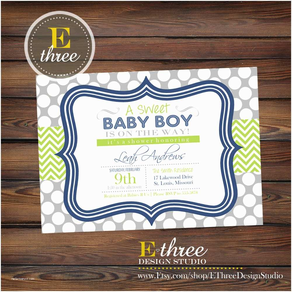 Baby Boy Shower Invitations Navy Blue and Green Boy S Baby Shower Invitation Baby