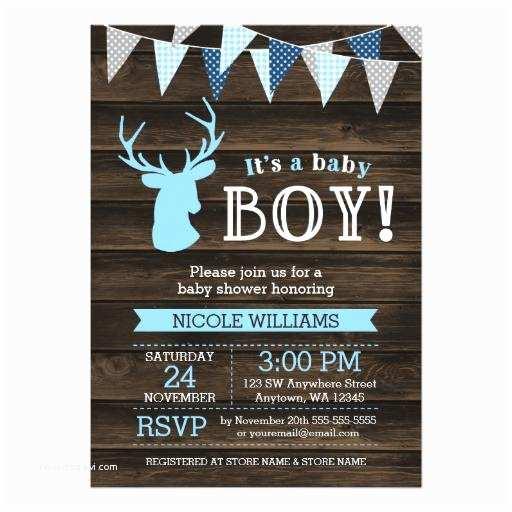 Baby Boy Shower Invitations Woodland Baby Shower Invitations