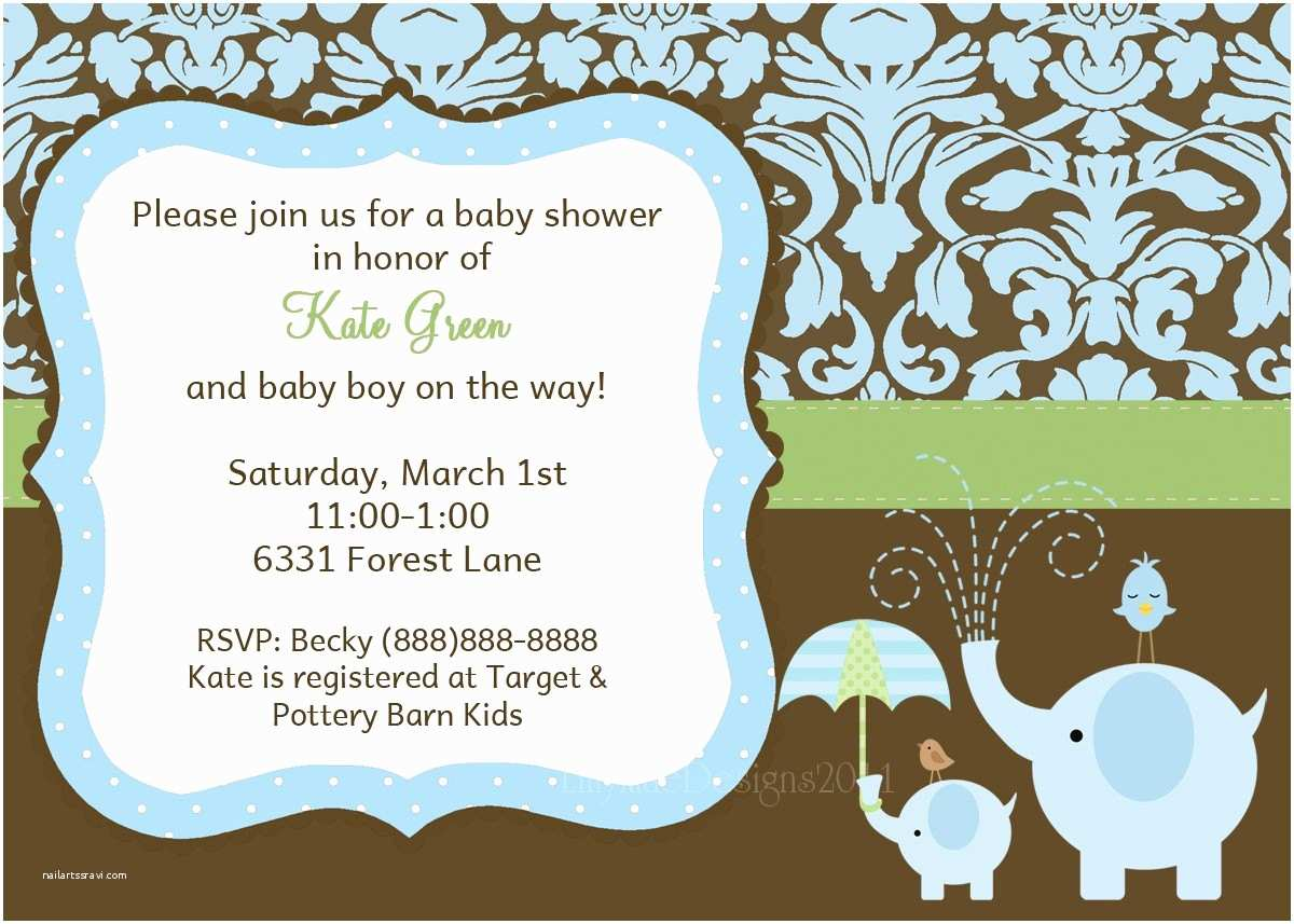 Baby Elephant Baby Shower S Baby Boy Shower  Elephant Baby Shower