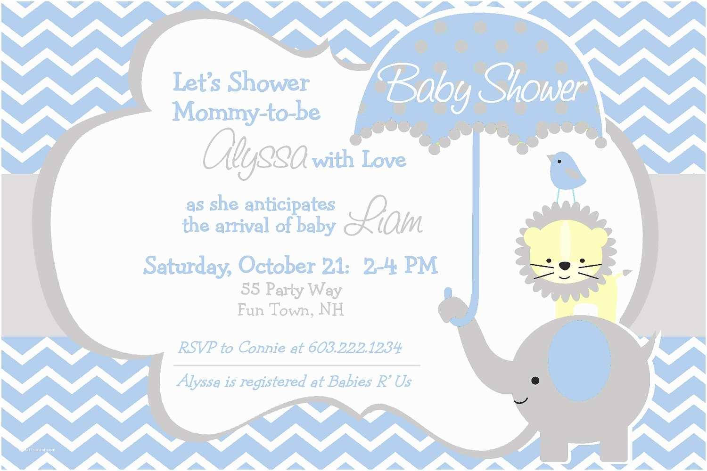 Baby Elephant Baby Shower Invitations Elephant Baby Shower Invitation Boy By