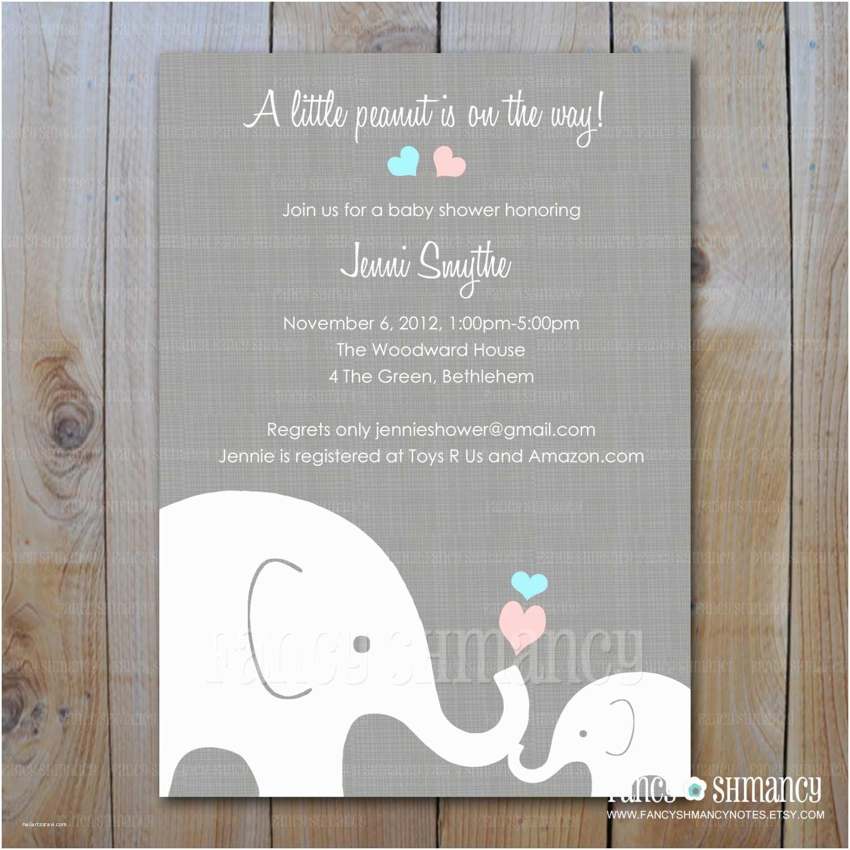 Baby Elephant Baby Shower Invitations Elephant Baby Shower Invitation Little By
